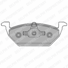 Brake pads front 280 x 22mm Without Wear Indicators